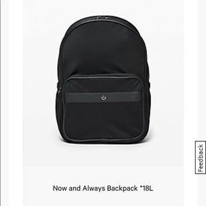 NWOT Lululemon Now and always back pack